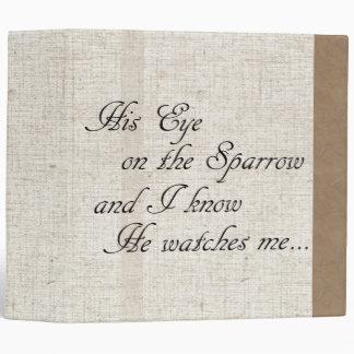 Carpeta de lino beige de Avery de la biblia