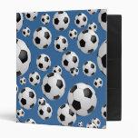 Carpeta de los balones de fútbol del fútbol