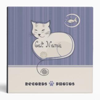 Carpeta de los expedientes y de las fotos del gato