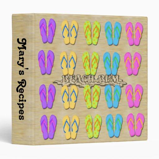 Carpeta de los flips-flopes 3-Ring del vago de la