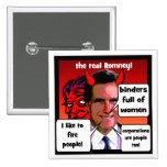 Carpeta de los gaffs de Romney por completo de muj Pins