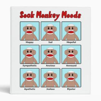 Carpeta de los humores del mono del calcetín