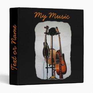 Carpeta de los instrumentos musicales 3-Ring de la