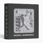 Carpeta de los objetos de recuerdo del béisbol