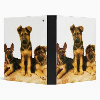 Carpeta de los perritos del pastor alemán