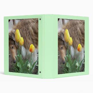Carpeta de los tulipanes del collie N