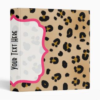 Carpeta de lujo del estampado leopardo