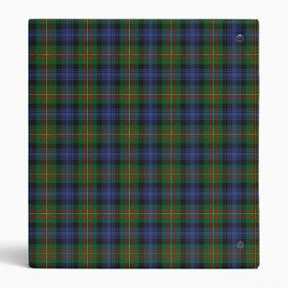 Carpeta de madera de Avery de la tela escocesa de