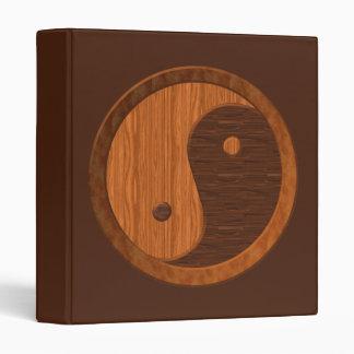 Carpeta de madera de Yin Yang