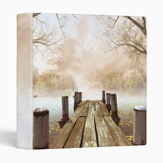 Carpeta de madera del embarcadero del otoño