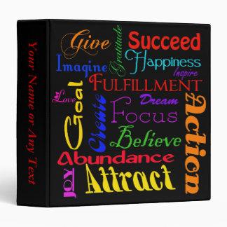 Carpeta de motivación del collage de la palabra