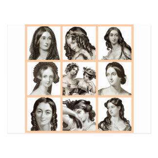 """Carpeta de mujeres"" - Tarjetas Postales"