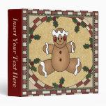 Carpeta de Navidad Avery de la galleta del pan de