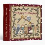 Carpeta de Navidad Avery de la natividad