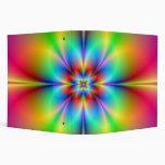Carpeta de neón de la flor del fractal