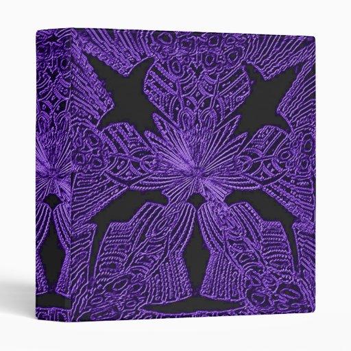 Carpeta de neón púrpura del fractal