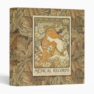 Carpeta de Nouveau del arte de los informes médico