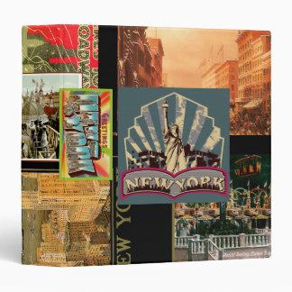 Carpeta de Nueva York del vintage
