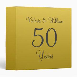 Carpeta de oro personalizada del libro de