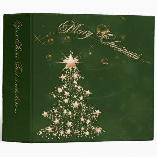 Carpeta de oro verde del navidad