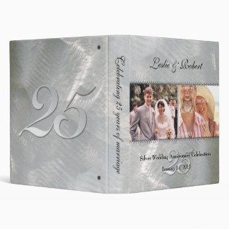 Carpeta de plata del aniversario del pasado y