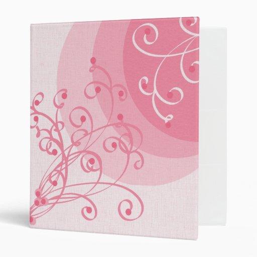 Carpeta de Swirly del rosa en colores pastel
