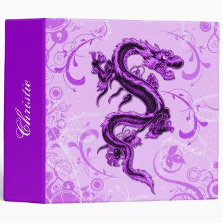 Carpeta de uso múltiple del dragón púrpura de la