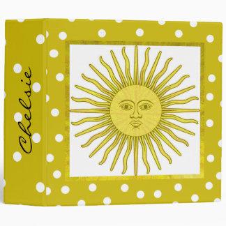 Carpeta decorativa bonita de Sun