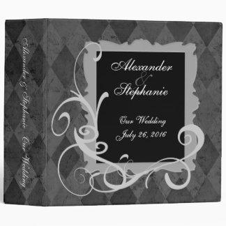 Carpeta del acontecimiento de la cartera del boda