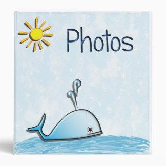 Carpeta del álbum de foto de la ballena del bebé
