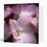 Carpeta del álbum de foto de la orquídea