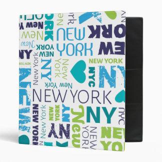Carpeta del álbum de foto de la tipografía de New