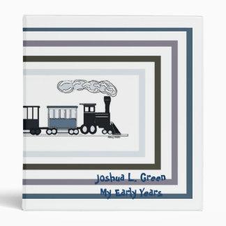 Carpeta del álbum de los niños negros y azules del