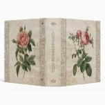 Carpeta del álbum de los rosas del vintage