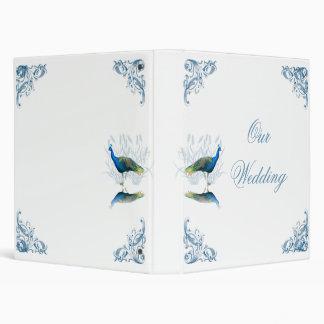 Carpeta del álbum del boda del jardín del pavo