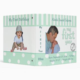 Carpeta del álbum del recuerdo del año del bebé de