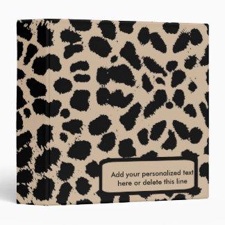 Carpeta del álbum del recuerdo del estampado leopa