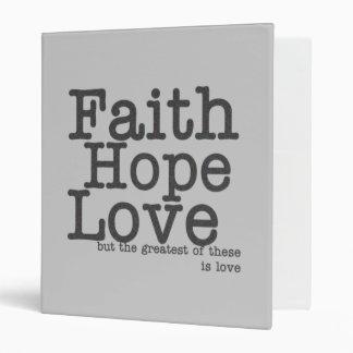 Carpeta del amor de la esperanza de la fe
