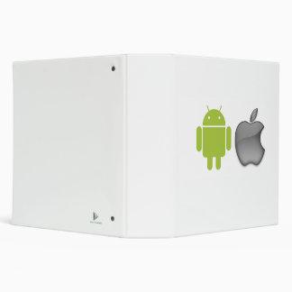 Carpeta del androide y de la cartera de Apple
