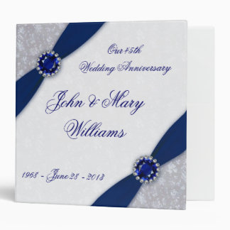 Carpeta del aniversario de boda del damasco 45.o