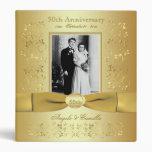 Carpeta del aniversario de boda del oro 50.o con l