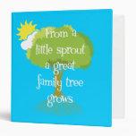 Carpeta del árbol de familia o álbum de foto