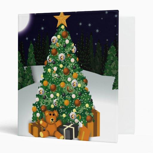Carpeta del árbol de navidad del oso