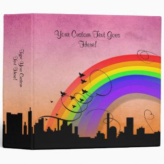 Carpeta del arco iris del rosa del horizonte de LG