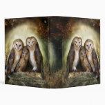 Carpeta del arte de la luna de tres búhos