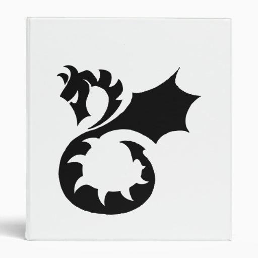Carpeta del arte del tatuaje del dragón