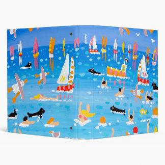 Carpeta del arte Nadadores sellos y velas