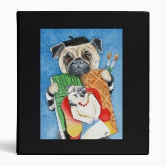Carpeta del artista del perro del Barro amasado-ca