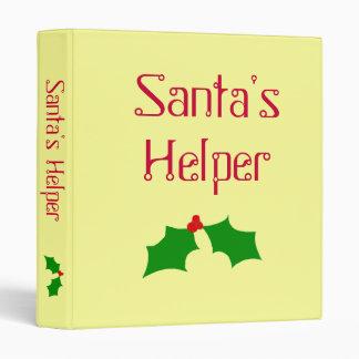 Carpeta del ayudante de Santa