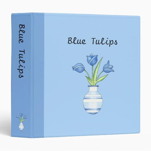 Carpeta del azul de los tulipanes azules